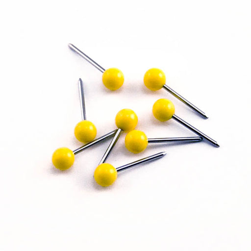 Advantus Medium Head Map Tacks, Yellow, 100/BX