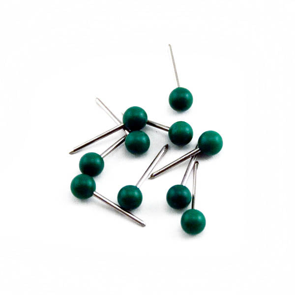 Advantus Medium Head Map Tacks, Green, 100/BX