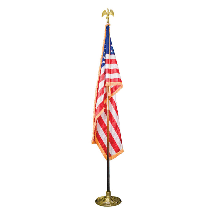 Advantus US Flag with 7in. Goldtone Eagle, 3' x 5'