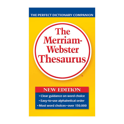 The Merriam Webster Thesaurus, Paperback, 800 pages (Replaced MER902)