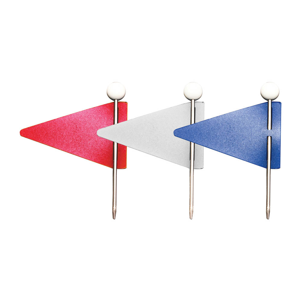 Advantus Triangular Map Flags, Red/White/Blue, 75/BX