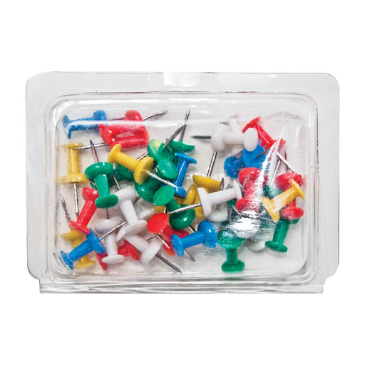 Gem Push Pin Caddy, Assorted, 40 pins/caddy