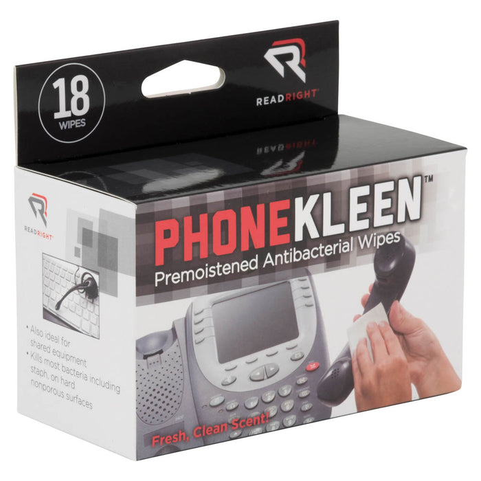 Read Right PhoneKleen, 18 wipes/BX
