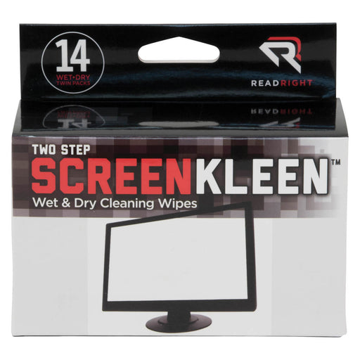 Read Right Two Step ScreenKleen, 14 twin packs/BX