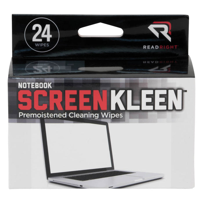 Read Right Notebook ScreenKleen, 24 wipes/BX