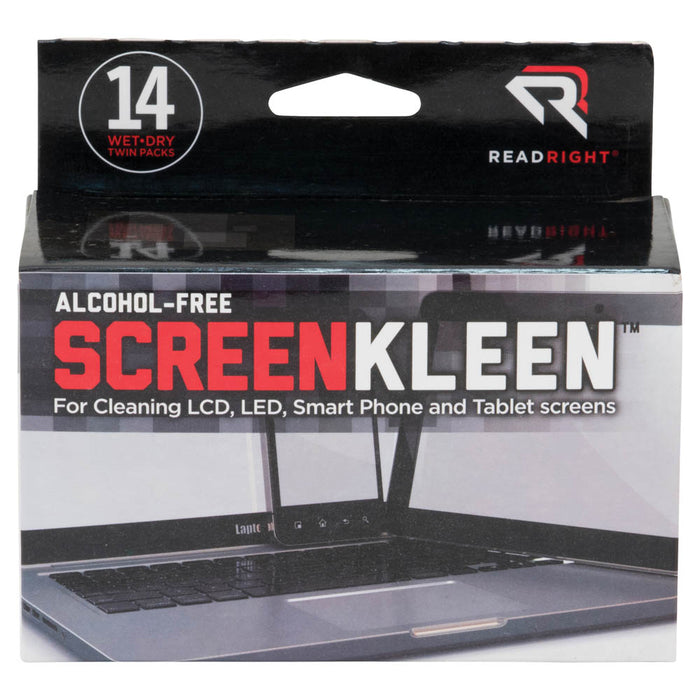 Read Right Alcohol Free ScreenKleen, 14 twin packs/BX