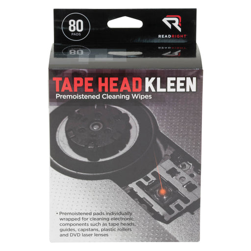 Read Right Tape Head Kleen Pad, 80 wipes/BX