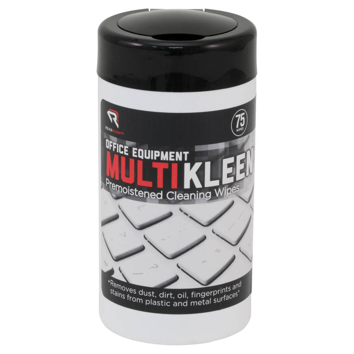 Read Right Office Equipment MultiKleen, 75 wipes/tub