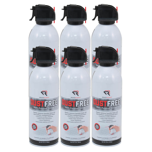 Read Right DustFree Multi Purpose Duster, 10 oz cans, 6/PK