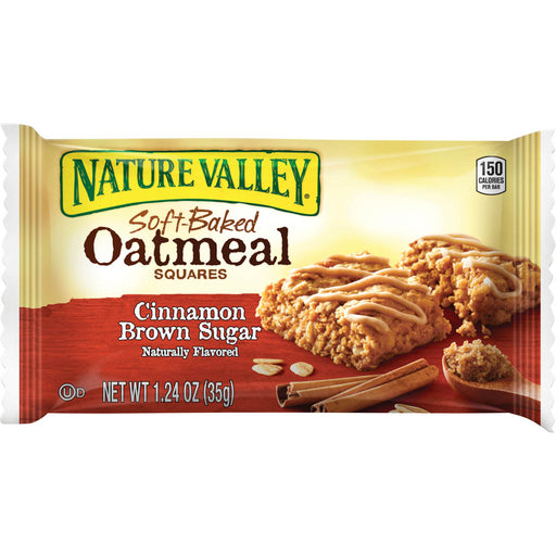 Nature Valley Oatmeal Squares, Cinnamon Brown Sugar, 15 bars/BX