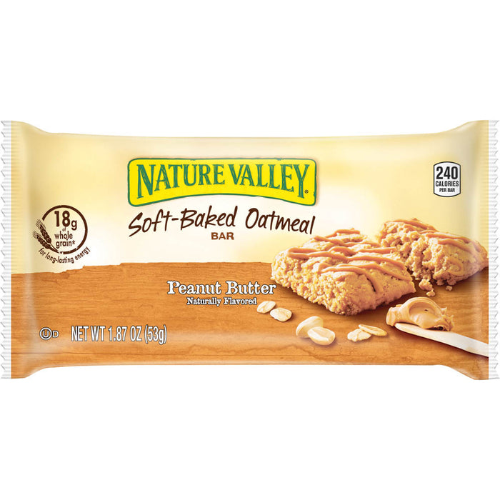 Nature Valley Oatmeal Squares, Peanut Butter, 15 bars/BX