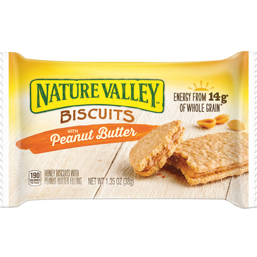 Nature Valley  Biscuits with Peanut Butter, 1.35oz, 16/BX