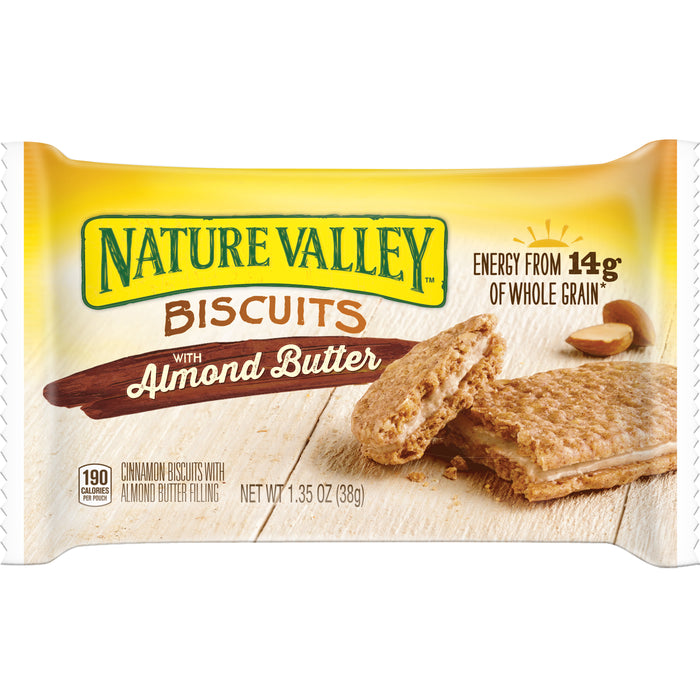 Nature Valley Biscuits with Almond Butter, 1.35oz, 16/BX