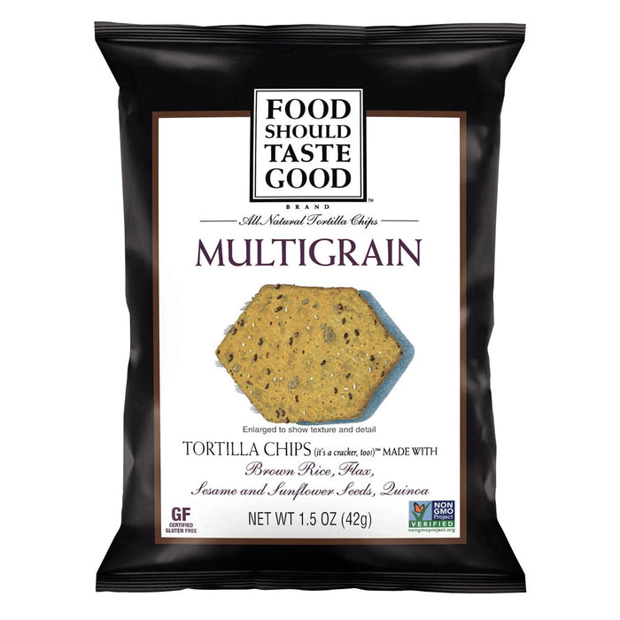 Food Should Taste Good Chips, Multi Grain Tortilla, 24/CT
