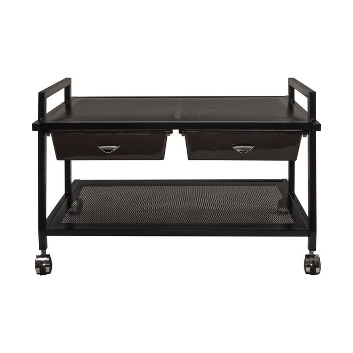 Vertiflex Underdesk Machine Stand with Supply Drawers, Black