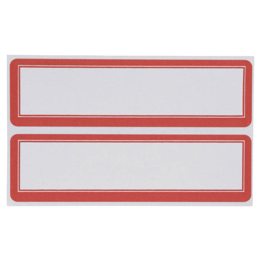 Z International Red Border Labels, 1⅛ x 4, 50 Labels