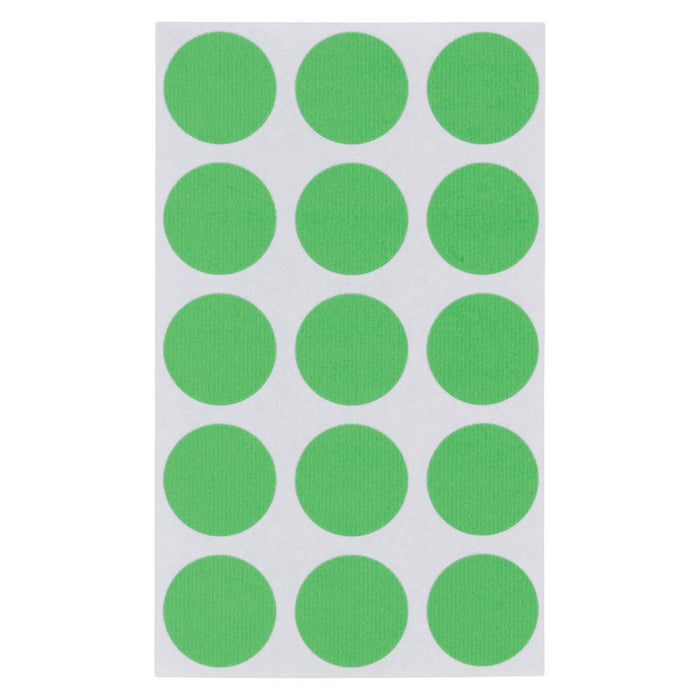 Z International Color Coding Labels, Green, ¾ Dia, 375 Labels