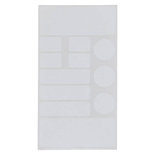 Z International White Labels, Assorted Shapes & Sizes, 276 Labels