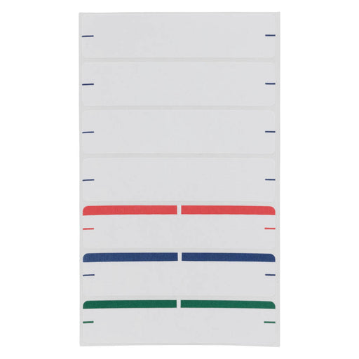 Z International File Folder Labels, Assorted, 9/16 x 2¾, 126 Labels