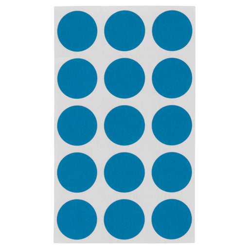 Z International Color Code Label, Light Blue, ¾ Dia, 375 Labels