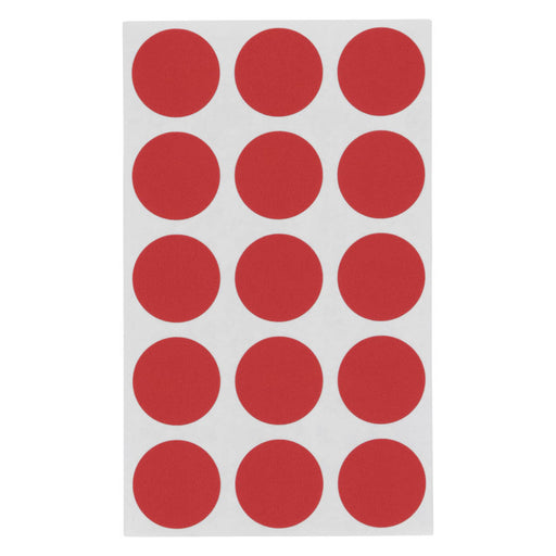 Z International Color Code Labels, Red, ¾ Dia, 375 Labels