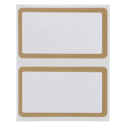 Z International Gold Border Labels, 1½ x 2 ⅝, 40 Labels
