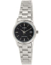 LTP-V002D-1A LTP-V002D-1 Casio Quartz Black Dial Analog Ladies Watch