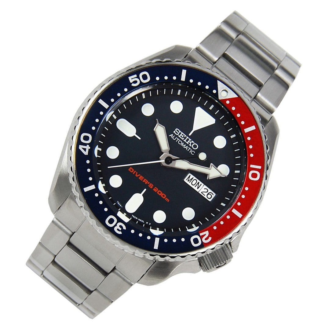 Seiko Automatic Oyster Stainless Steel Diving Watch SKX009 SKX009K2