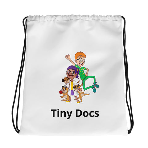 Tiny Docs Drawstring bag