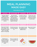 Meal Planning Made Easy - Printable and Digital Binder and Guide
