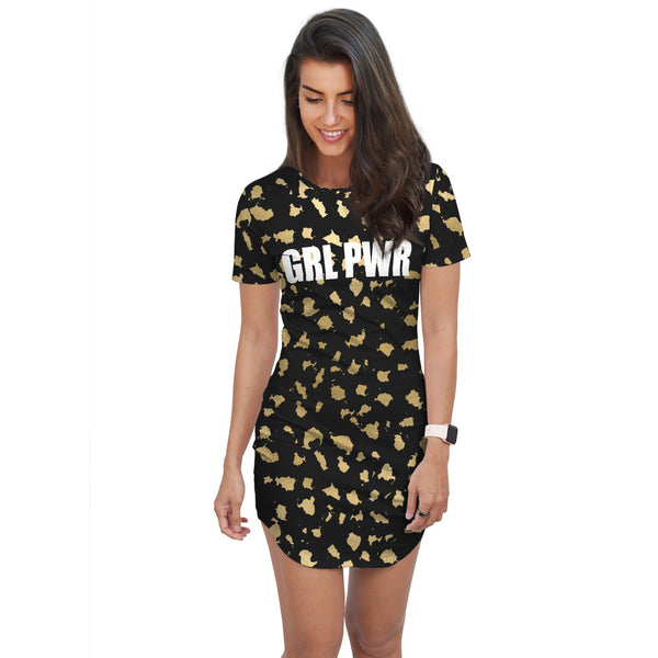 GRL PWR -Tshirt Dress - lavished-collection