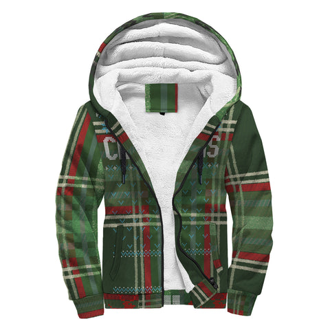 All I Want for Christmas (Green Flannel) Ugly Sweater Sherpa Hoodie - lavished-collection