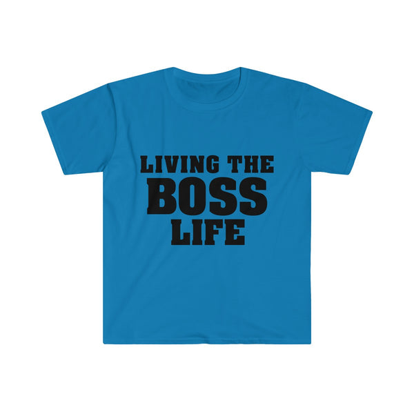 Living the Boss Life - Men's Fitted Short Sleeve Tee - lavished-collection