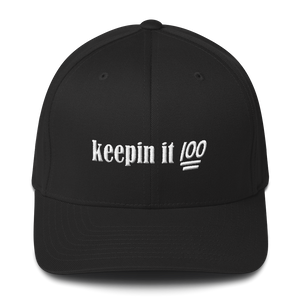 Keepin it 100- Structured Twill Cap - lavished-collection