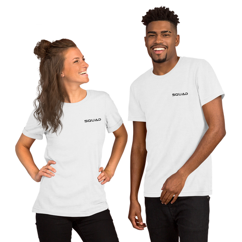 """Squad"" Embroidered Short-Sleeve Unisex T-Shirt Apparel - Lavished Collection"