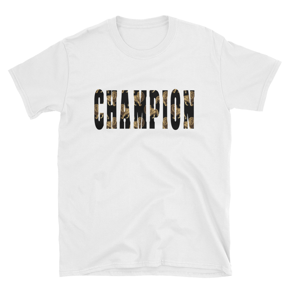 Champion Lion- Men's Short-Sleeve T-Shirt - lavished-collection