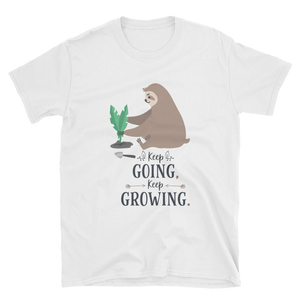 Keep Going, Keep Growing - Sloth Humor Tees - lavished-collection