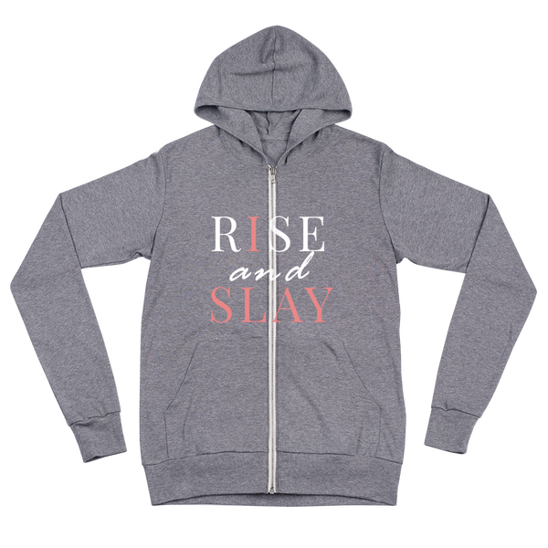 Rise and Slay -Women's Zip Hoodie - lavished-collection