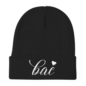 """Bae"" Knit Beanie Hats - Lavished Collection"