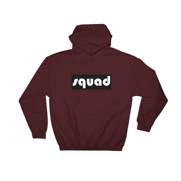 Squad- (Black) Back Printed Hoodie - lavished-collection