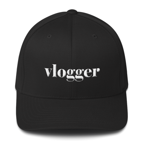 """Vlogger"" Unisex Structured Twill Cap Hats - Lavished Collection"