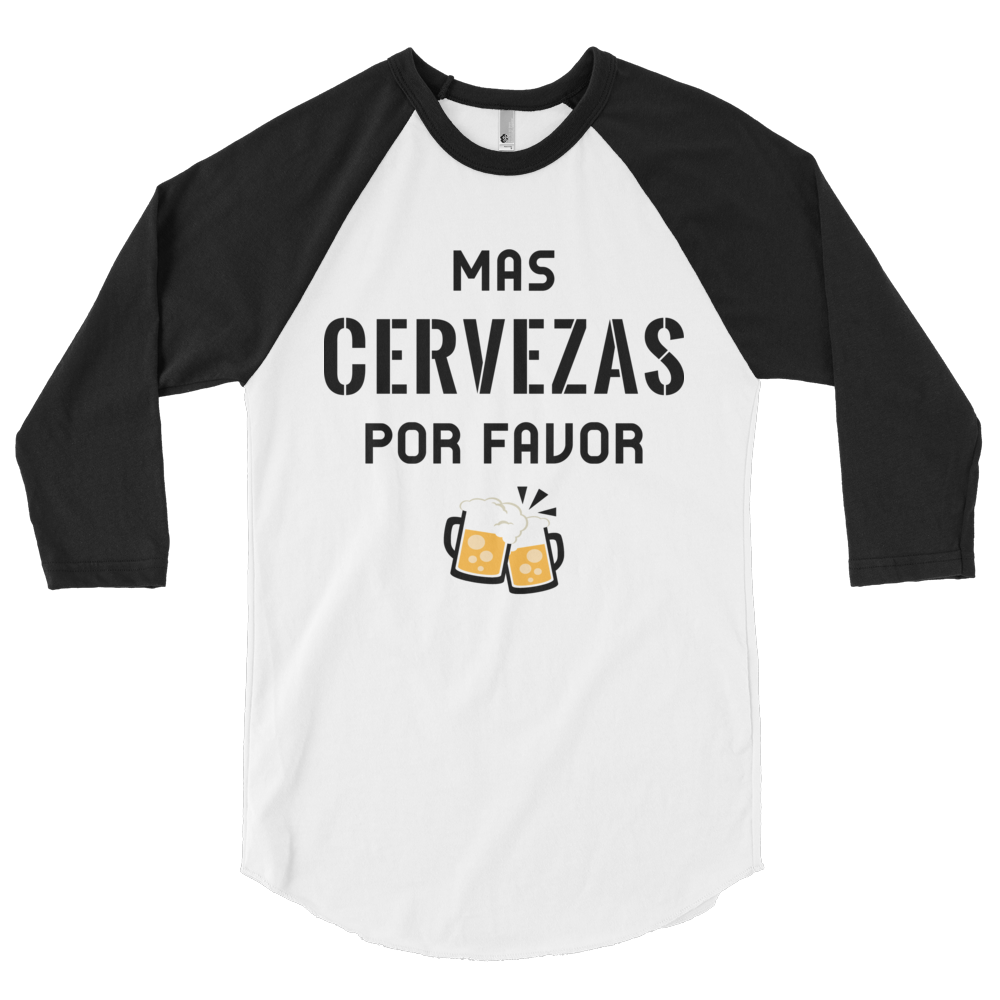 """Mas Cervezas Por Favor"" Baseball Tee Apparel - Lavished Collection"