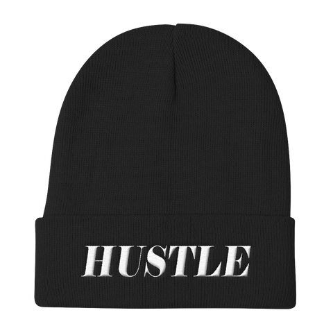 """Hustle"" Knit Beanie Hats - Lavished Collection"