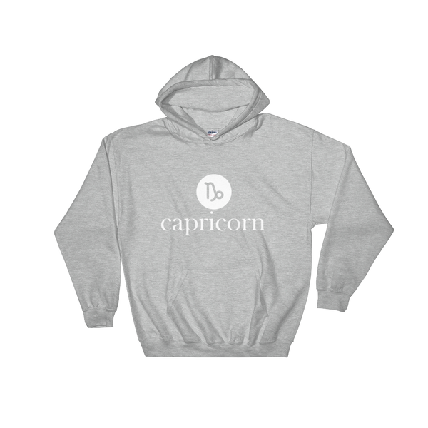 """Capricorn"" Unisex Hooded Sweatshirt Apparel - Lavished Collection"