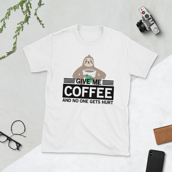 Give Me Coffee - Sloth Humor Tees - lavished-collection