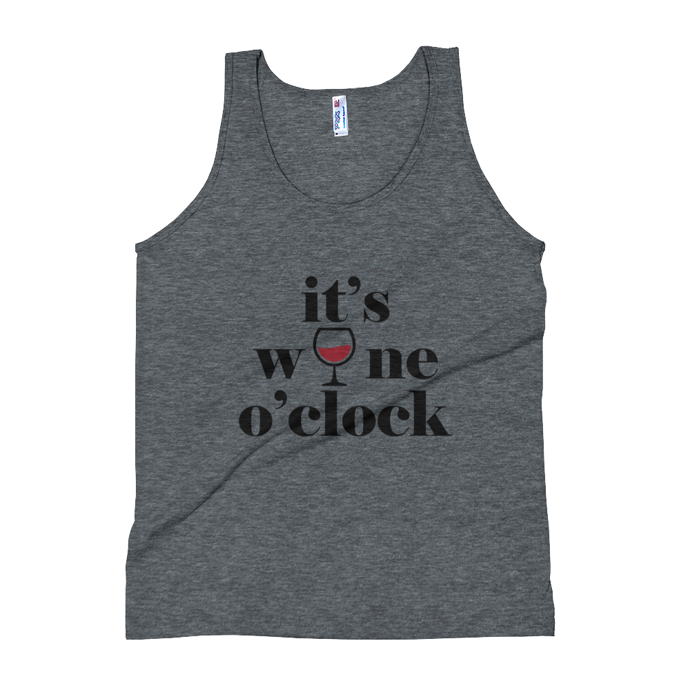 """It's Wine O'clock"" Unisex Tank Top - lavished-collection"
