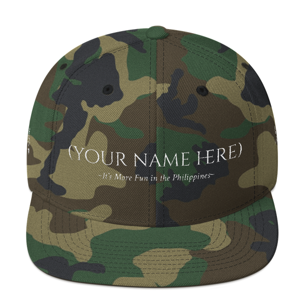 "(Your Name) ""It's More Fun in the Philippines"" Snapback Hat"