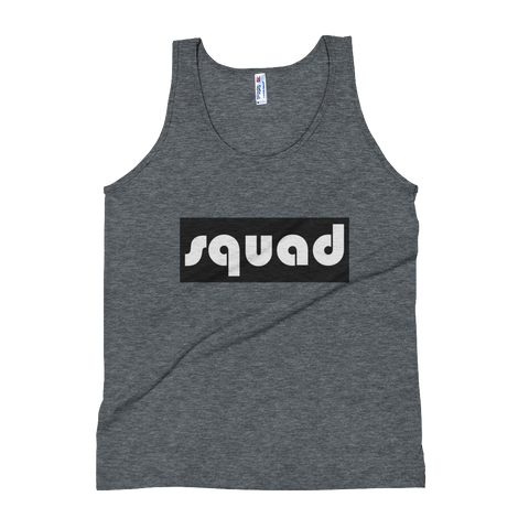 Squad- (Black & White) Unisex Tank Top - lavished-collection