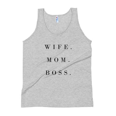 Wife. Mom. Boss- Women's Tank Top - lavished-collection