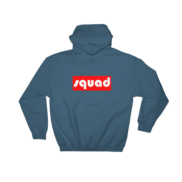 """Squad"" Back Printed Hoodie Apparel - Lavished Collection"